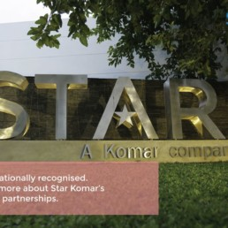 Star Komar's Global Partnerships with Titans of the Apparel Industry